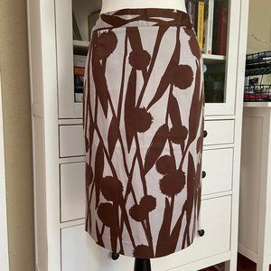 Boden brown and grey pencil skirt